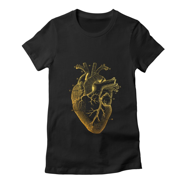 Heart Of Gold Women's Fitted T-Shirt by Paddy Ribeiro