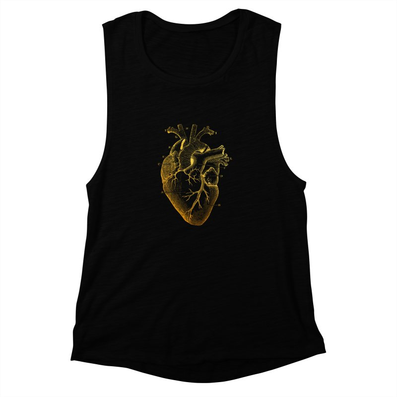 Heart Of Gold Women's Muscle Tank by Paddy Ribeiro