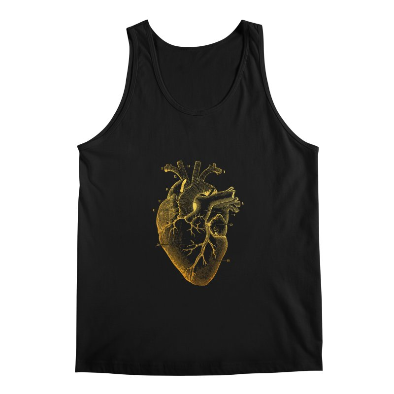 Heart Of Gold Men's Tank by Paddy Ribeiro