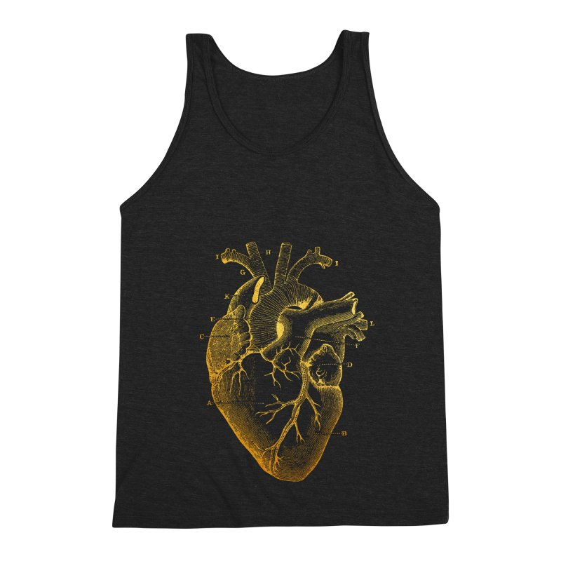 Heart Of Gold Men's Triblend Tank by Paddy Ribeiro