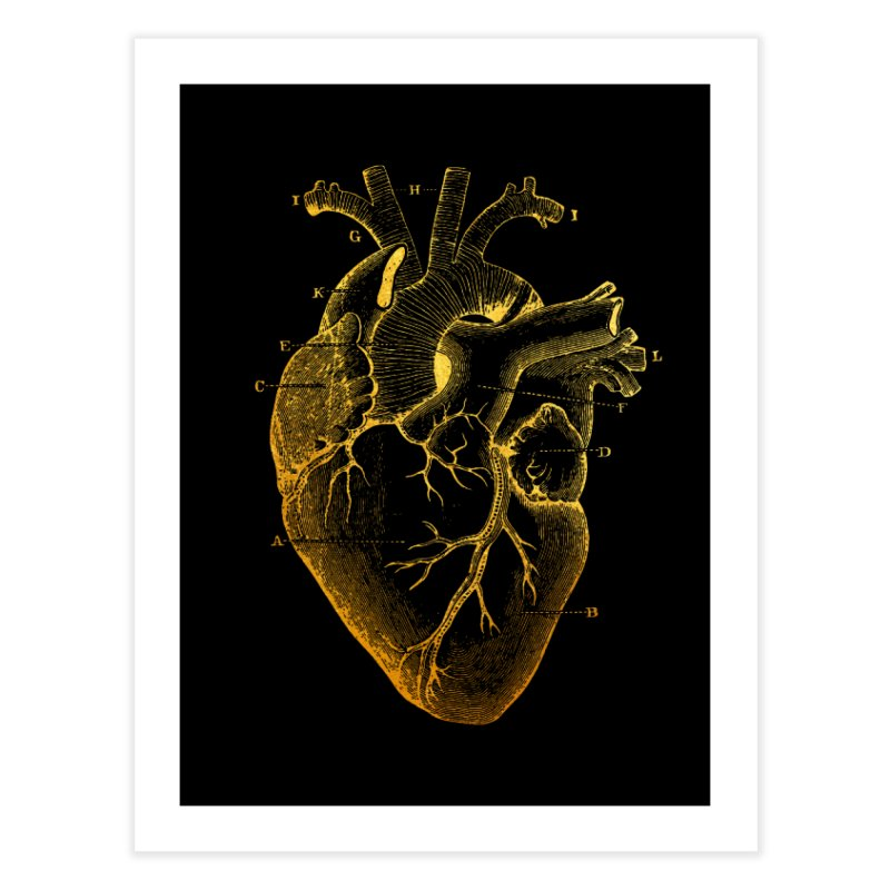 Heart Of Gold Home Fine Art Print by Paddy Ribeiro