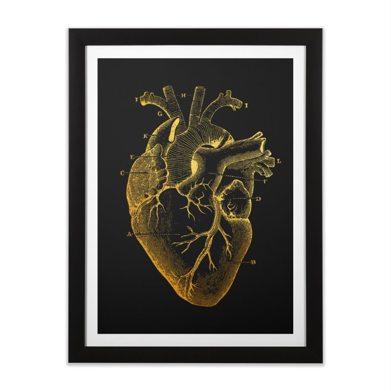 Heart Of Gold Home Framed Fine Art Print by Paddy Ribeiro