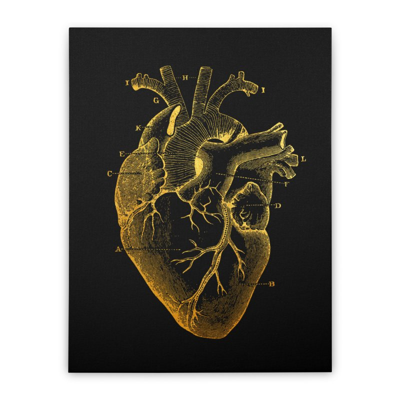 Heart Of Gold Home Stretched Canvas by Paddy Ribeiro