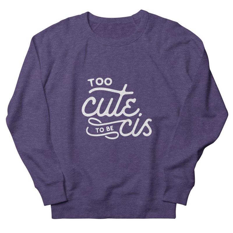 Too Cute Men's French Terry Sweatshirt by Paddy Ribeiro