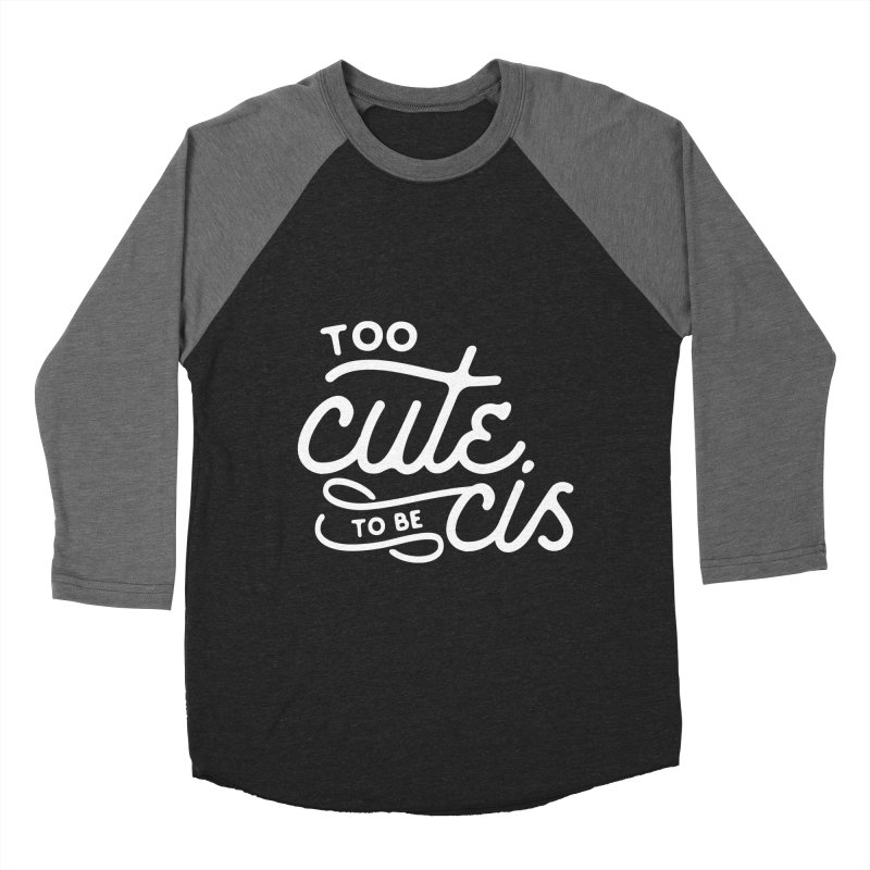 Too Cute Women's Baseball Triblend Longsleeve T-Shirt by Paddy Ribeiro