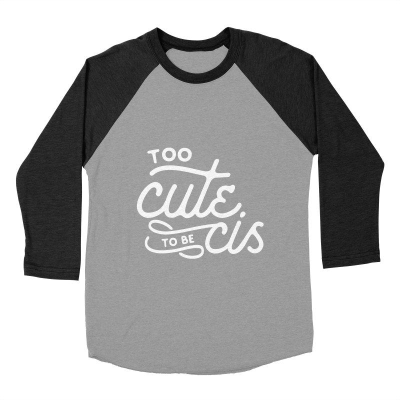 Too Cute Men's Baseball Triblend Longsleeve T-Shirt by Paddy Ribeiro