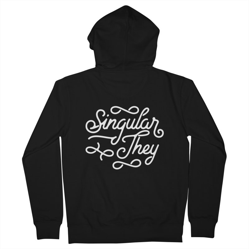 Singular They Men's Zip-Up Hoody by Paddy Ribeiro