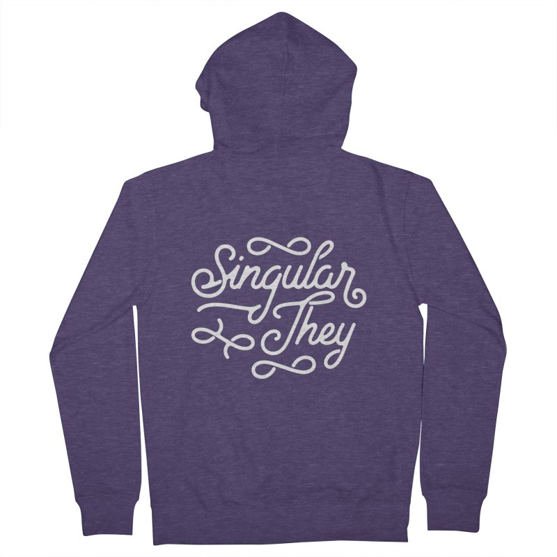 Singular They Men's French Terry Zip-Up Hoody by Paddy Ribeiro