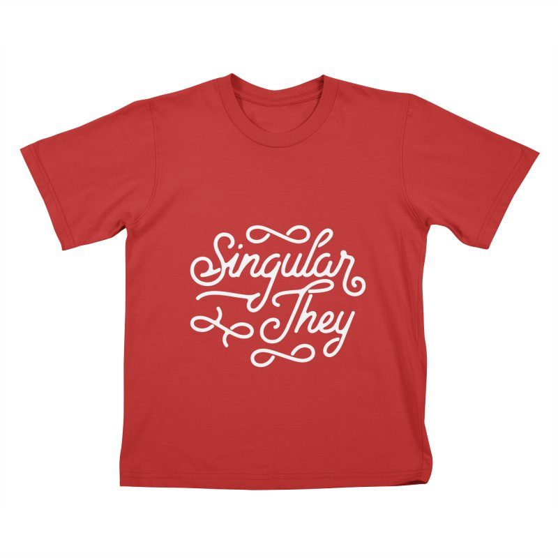 Singular They Kids T-Shirt by Paddy Ribeiro