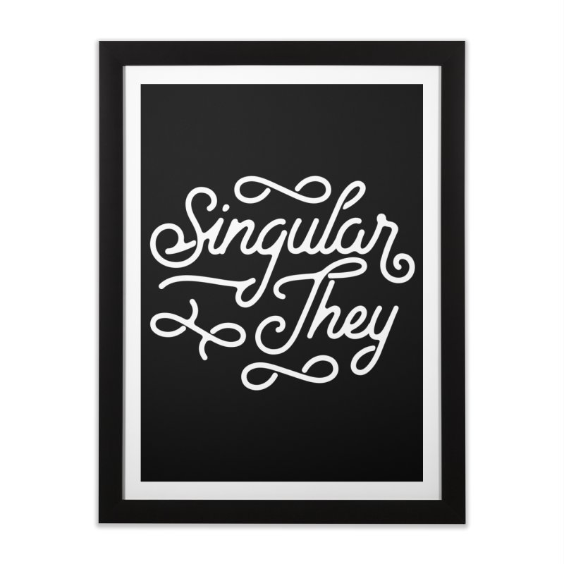 Singular They Home Framed Fine Art Print by Paddy Ribeiro