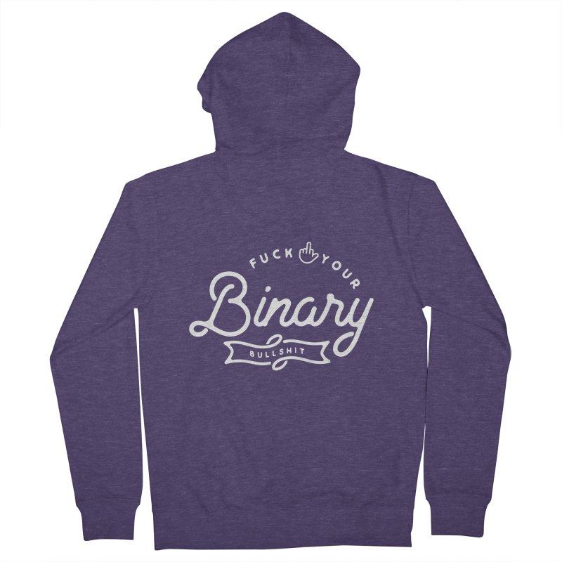 Binary Bullshit Men's Zip-Up Hoody by Paddy Ribeiro