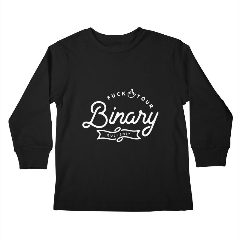 Binary Bullshit Kids Longsleeve T-Shirt by Paddy Ribeiro