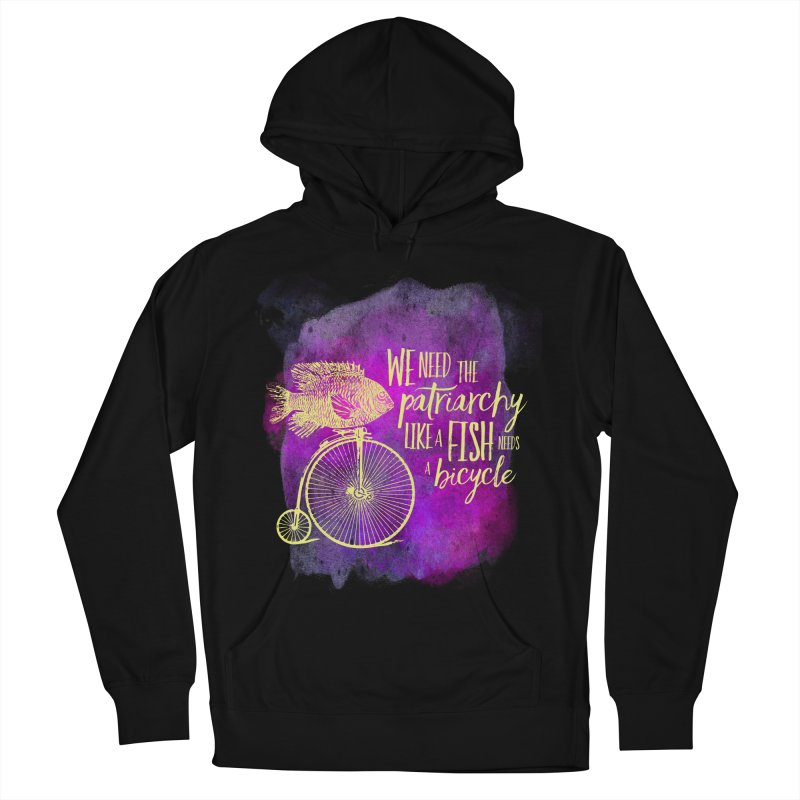 Like a Fish Women's French Terry Pullover Hoody by Paddy Ribeiro