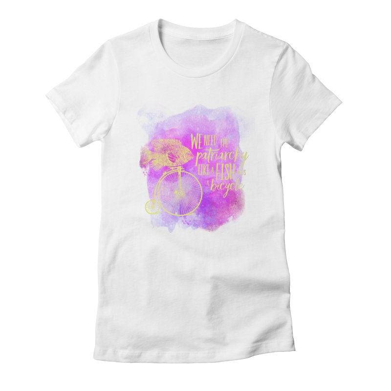 Like a Fish Women's Fitted T-Shirt by Paddy Ribeiro