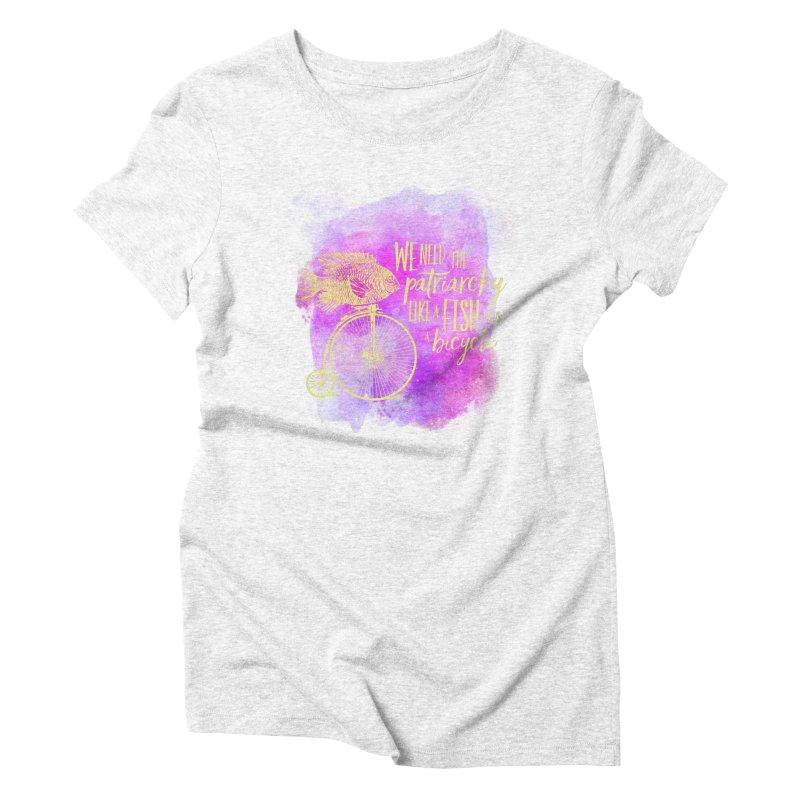 Like a Fish Women's Triblend T-shirt by Paddy Ribeiro