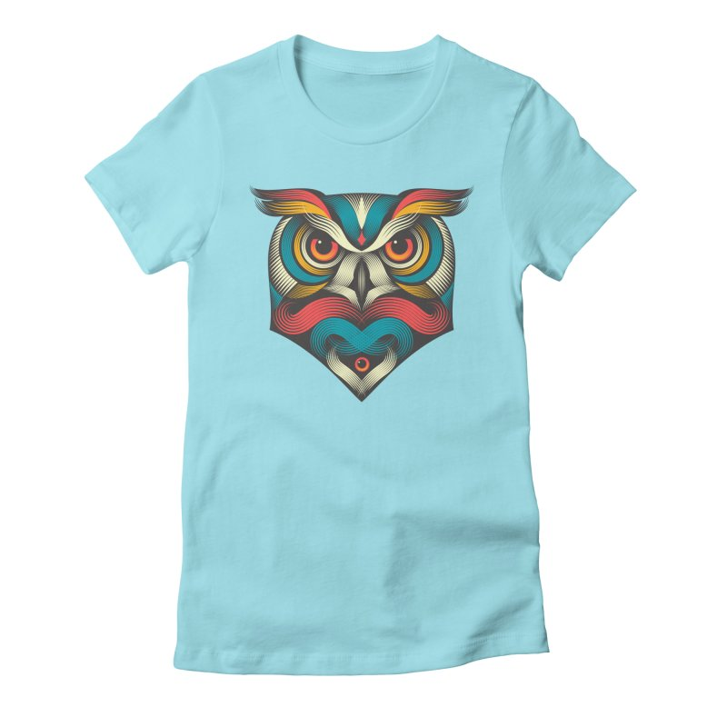 Sowl Women's Fitted T-Shirt by pagata's Artist Shop