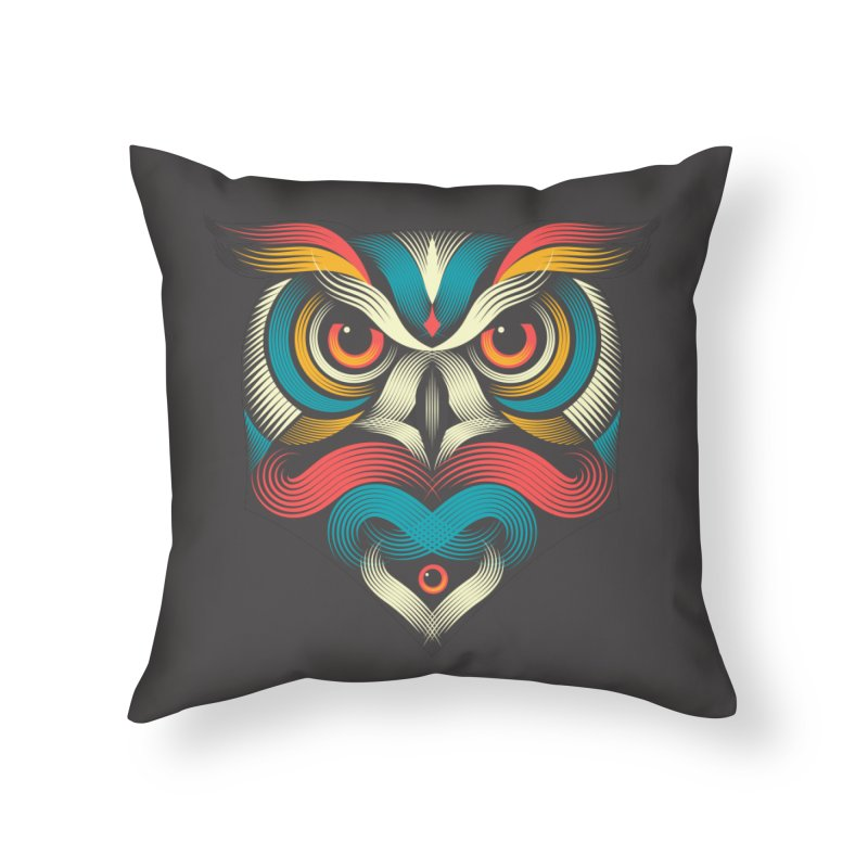 Sowl Home Throw Pillow by pagata's Artist Shop