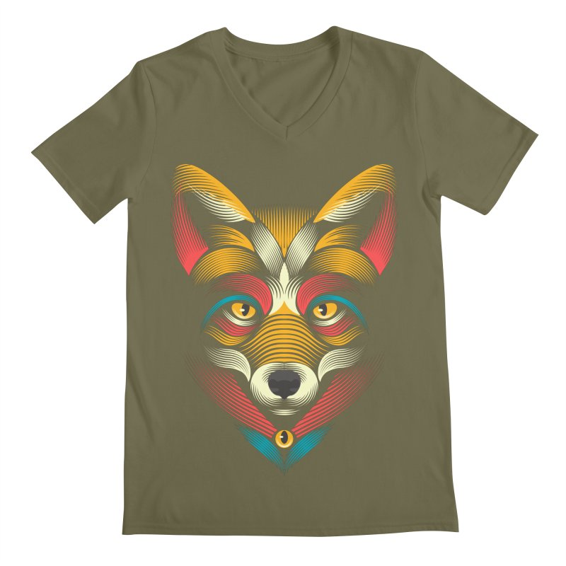 FOXoul Men's V-Neck by pagata's Artist Shop