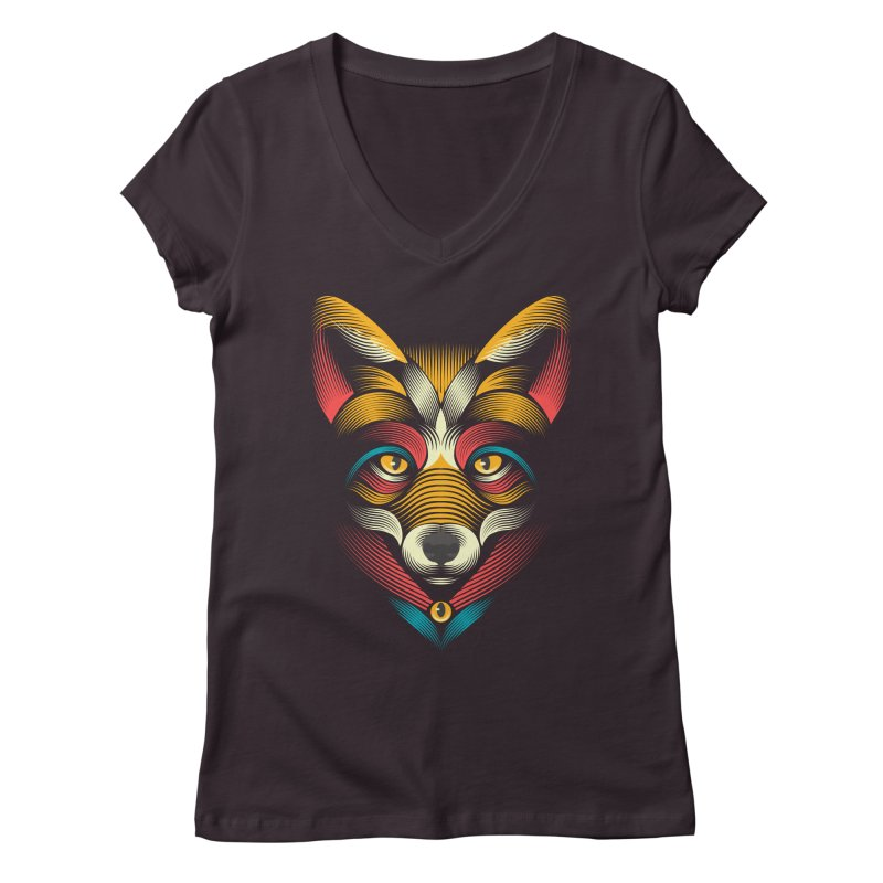 FOXoul Women's V-Neck by pagata's Artist Shop