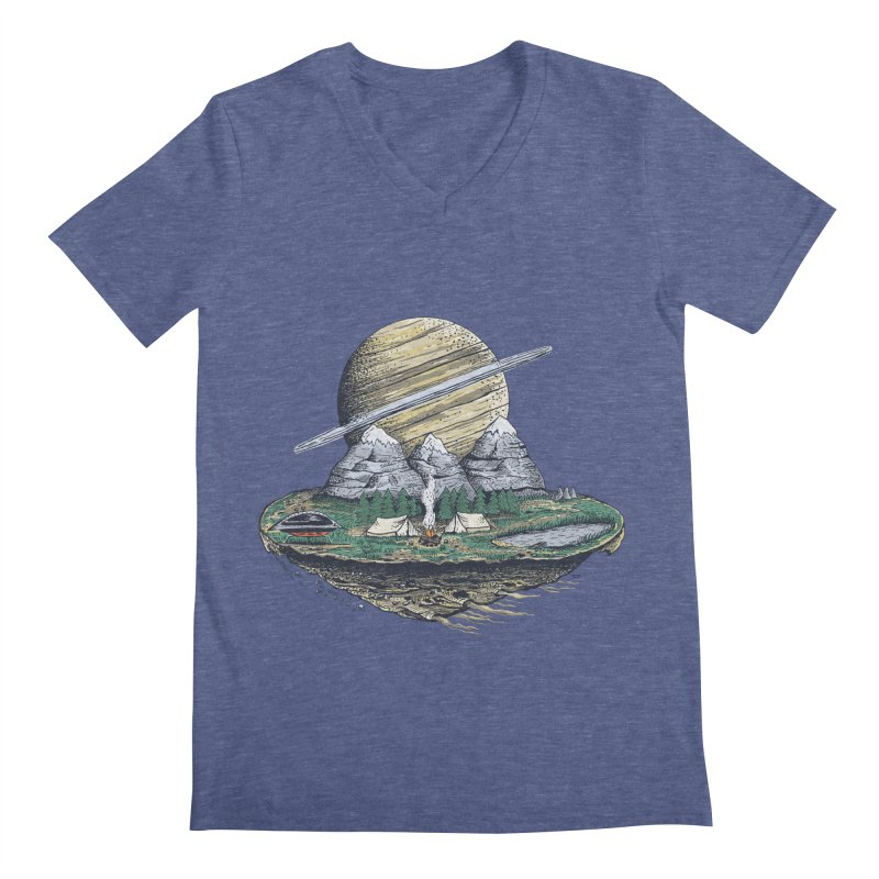 Let's go outside! Men's V-Neck by pagata's Artist Shop