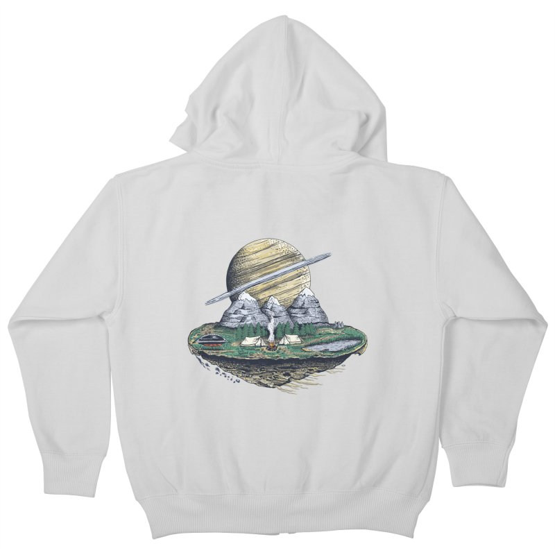 Let's go outside! Kids Zip-Up Hoody by pagata's Artist Shop