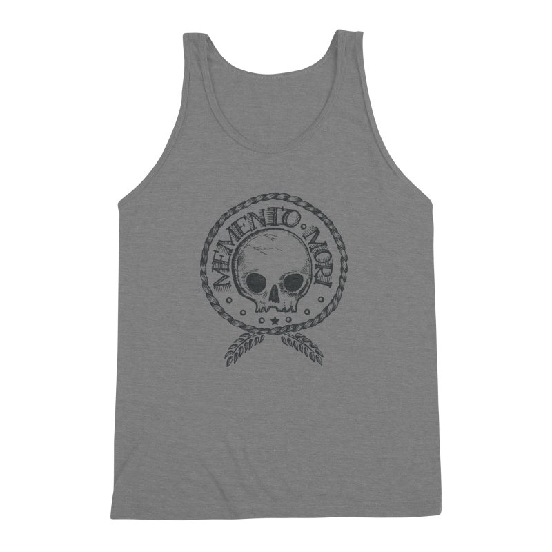 Remember that you must die. Men's Triblend Tank by pagata's Artist Shop
