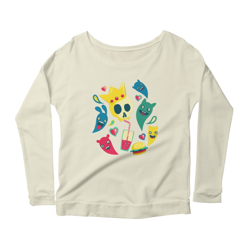 Diet starts next monday Women's Longsleeve Scoopneck  by PAgata's Artist Shop