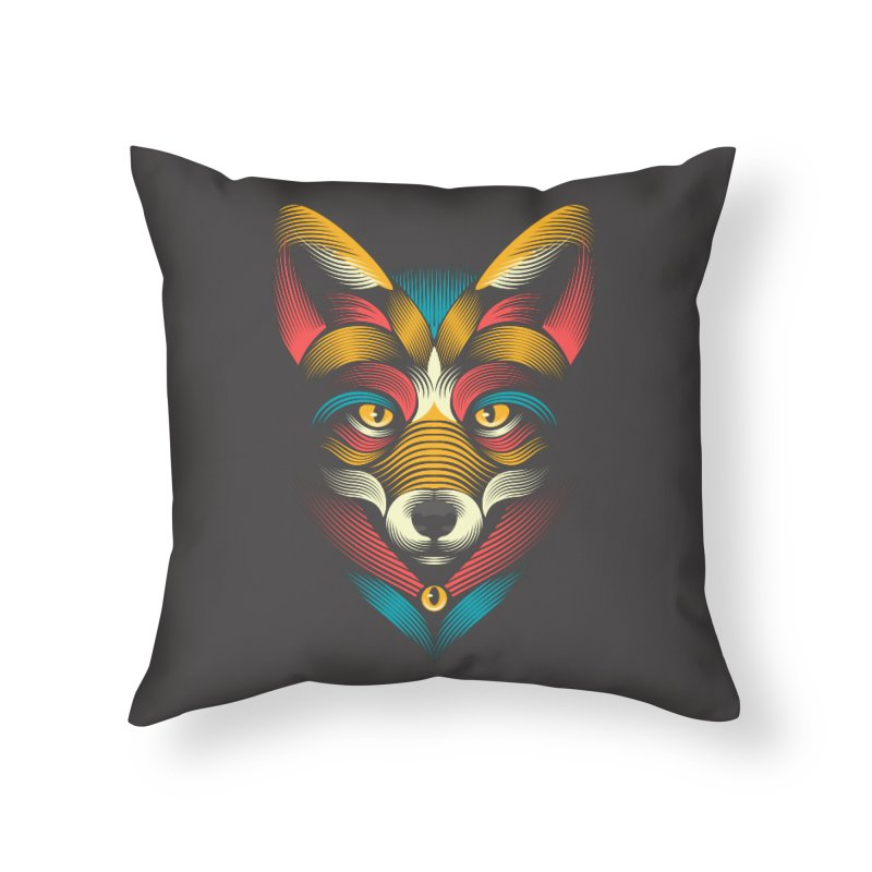 FOXoul Home Throw Pillow by PAgata's Artist Shop