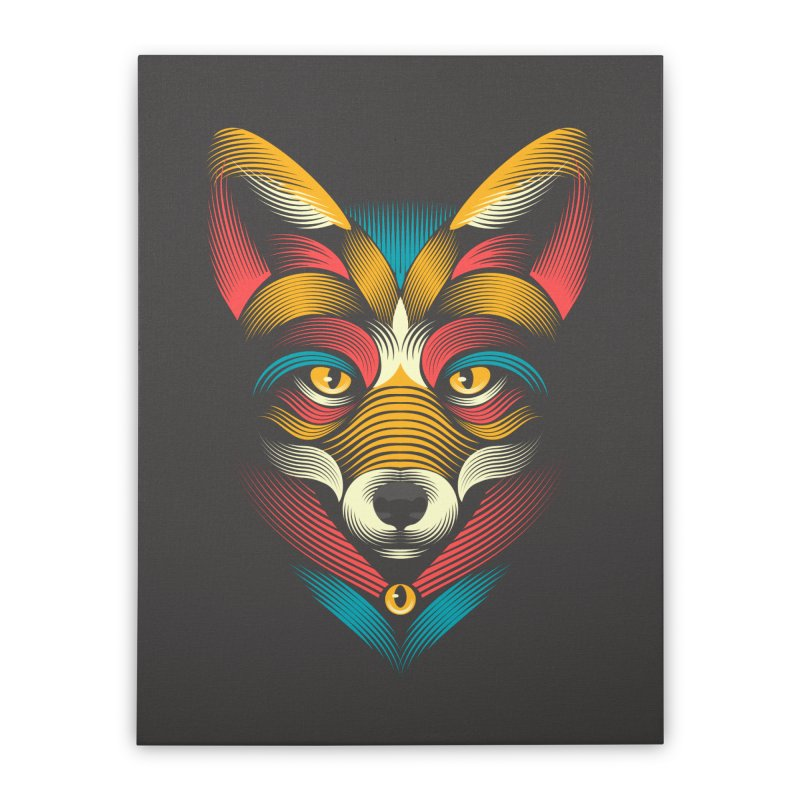 FOXoul Home Stretched Canvas by PAgata's Artist Shop