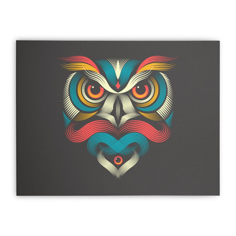 Sowl Home Stretched Canvas by PAgata's Artist Shop