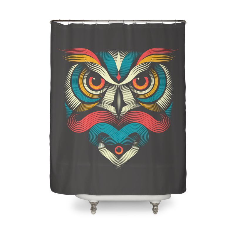 Sowl Home Shower Curtain by PAgata's Artist Shop