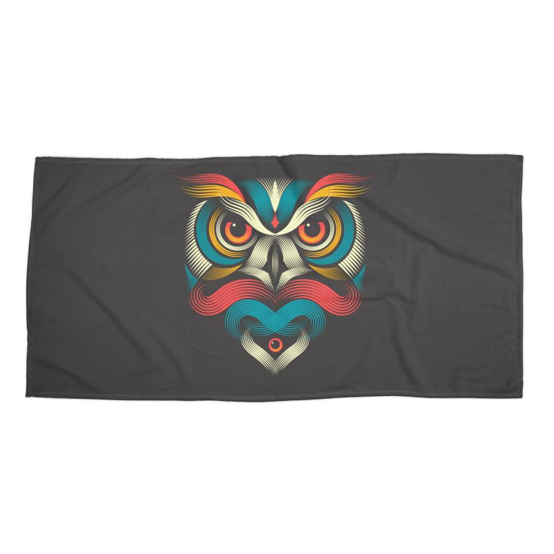 Sowl Accessories Beach Towel by PAgata's Artist Shop