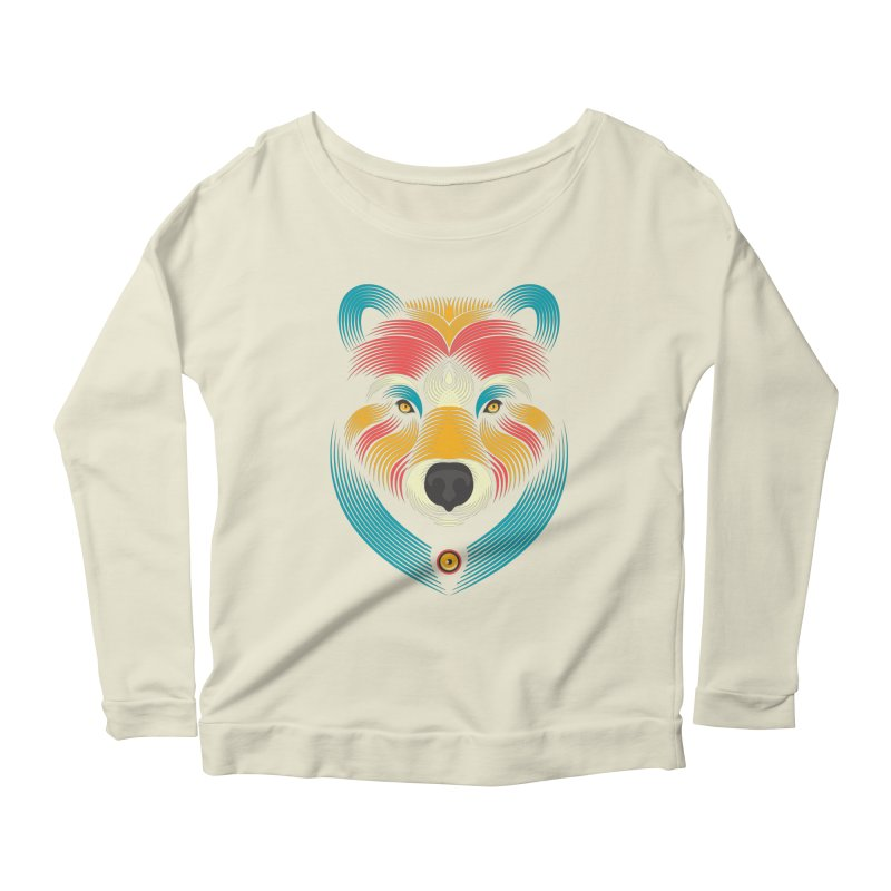 BEARsoul Women's Longsleeve Scoopneck  by PAgata's Artist Shop