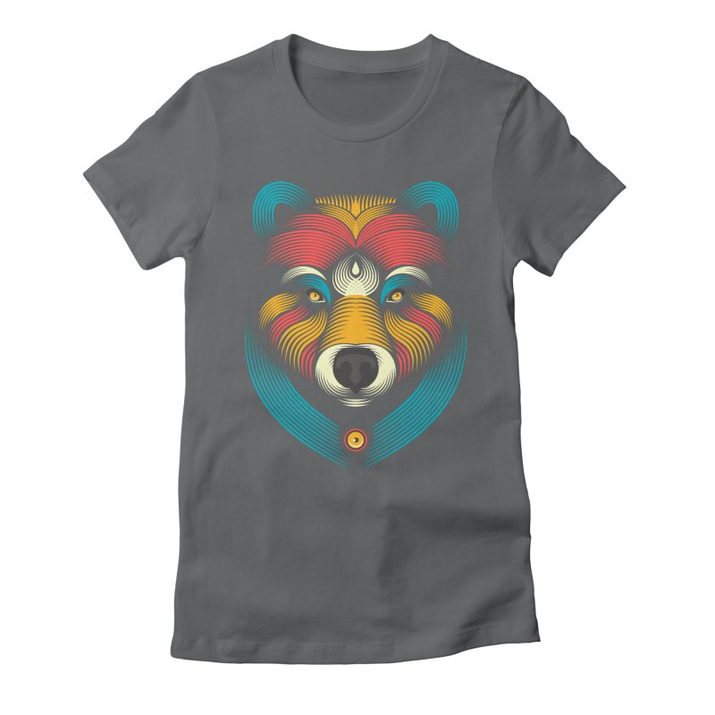 BEARsoul Women's Fitted T-Shirt by PAgata's Artist Shop