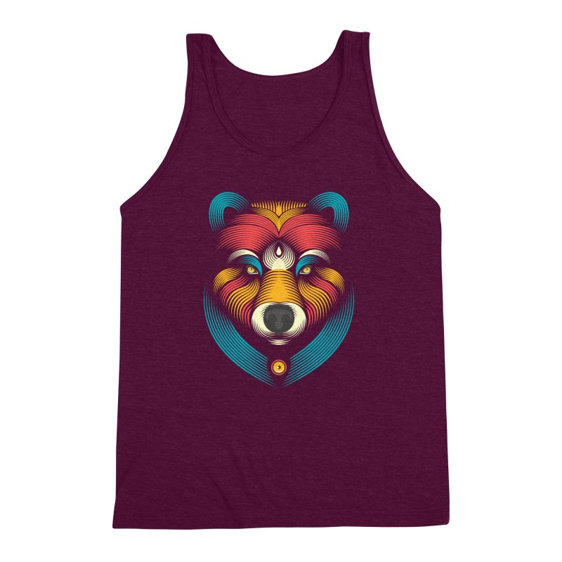 BEARsoul Men's Triblend Tank by PAgata's Artist Shop