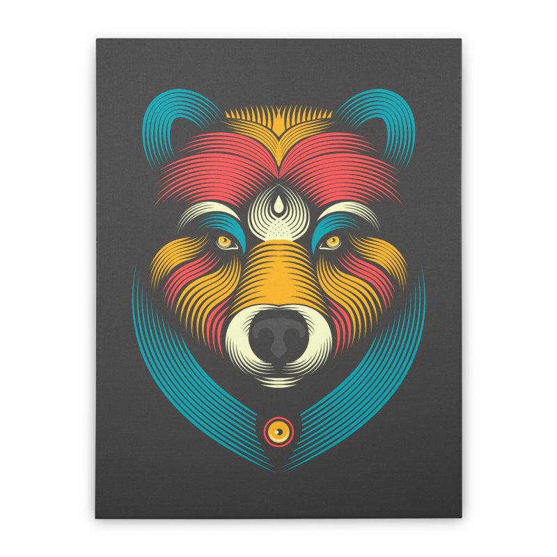 BEARsoul Home Stretched Canvas by PAgata's Artist Shop