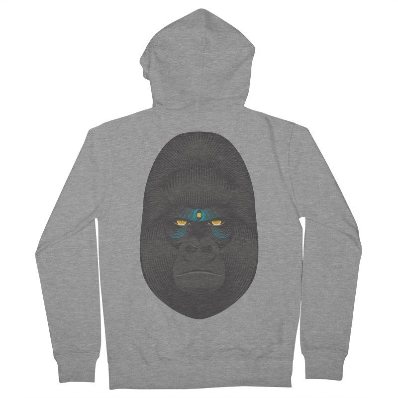 Gorilla soul - light colors clothes Men's Zip-Up Hoody by PAgata's Artist Shop