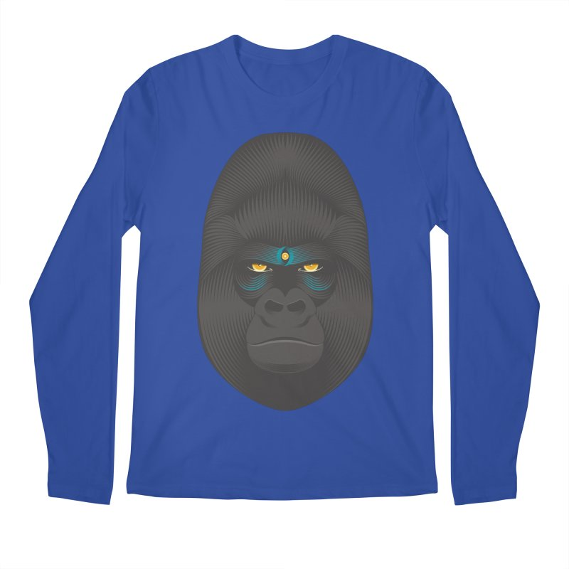 Gorilla soul - light colors clothes Men's Longsleeve T-Shirt by PAgata's Artist Shop