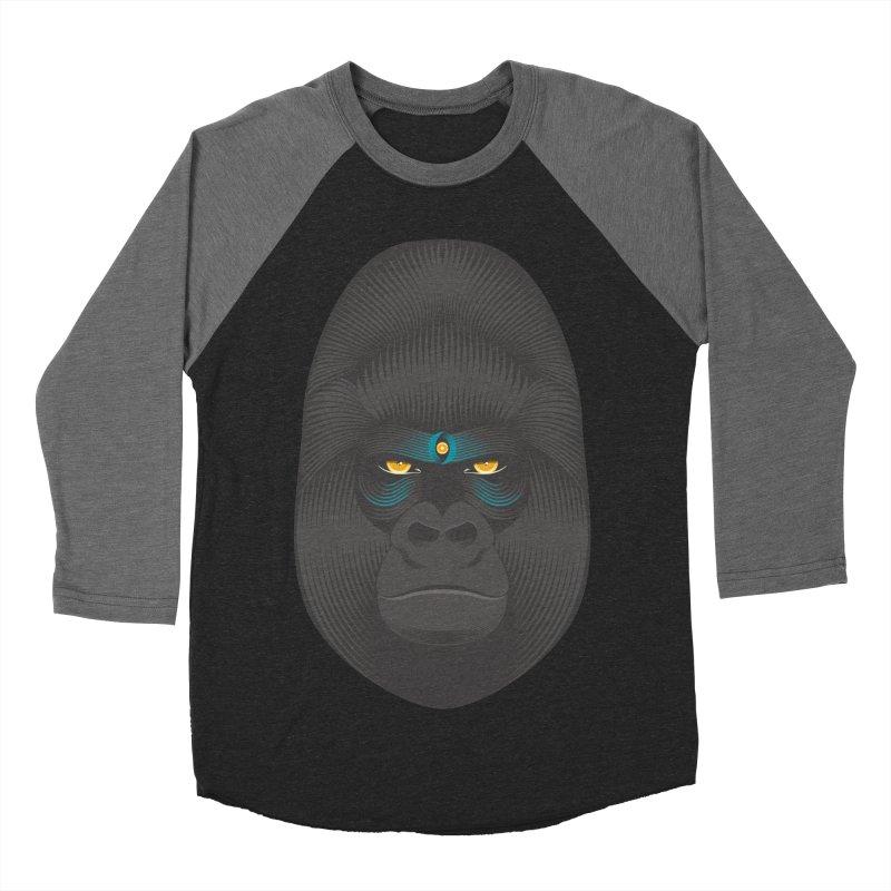 Gorilla soul - light colors clothes Men's Baseball Triblend T-Shirt by PAgata's Artist Shop