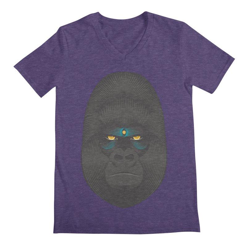 Gorilla soul - light colors clothes Men's V-Neck by PAgata's Artist Shop