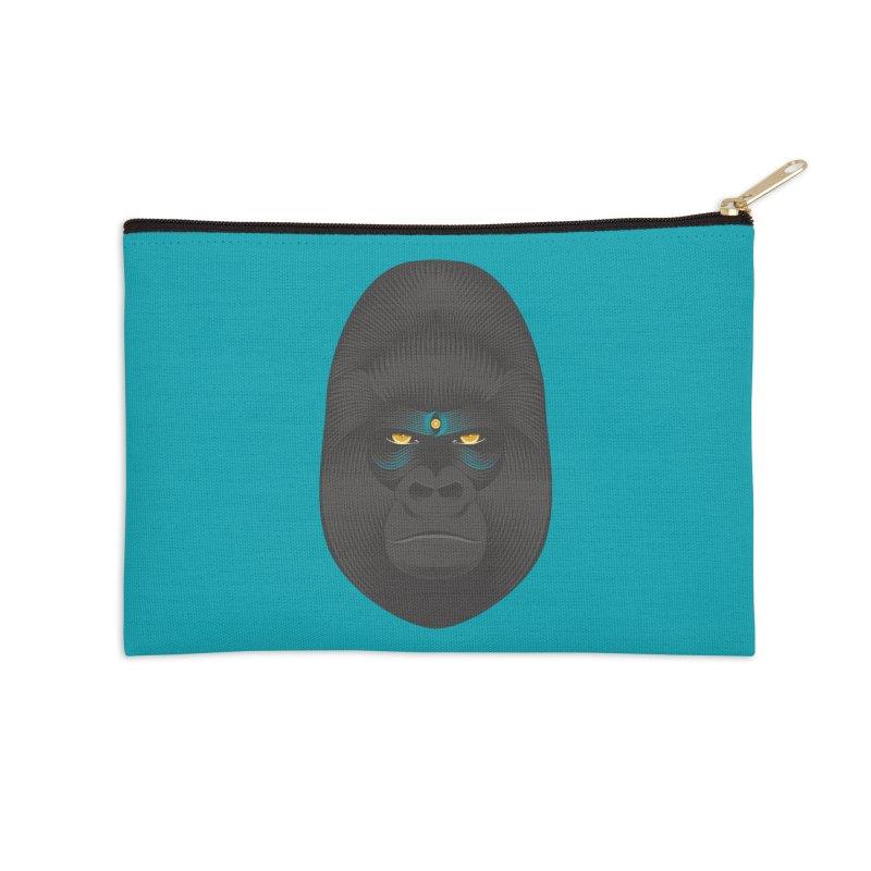 Gorilla soul - light colors clothes Accessories Zip Pouch by PAgata's Artist Shop