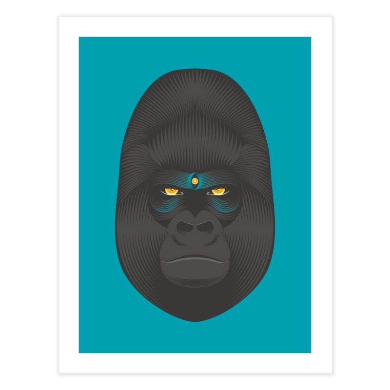 Gorilla soul - light colors clothes Home Fine Art Print by PAgata's Artist Shop