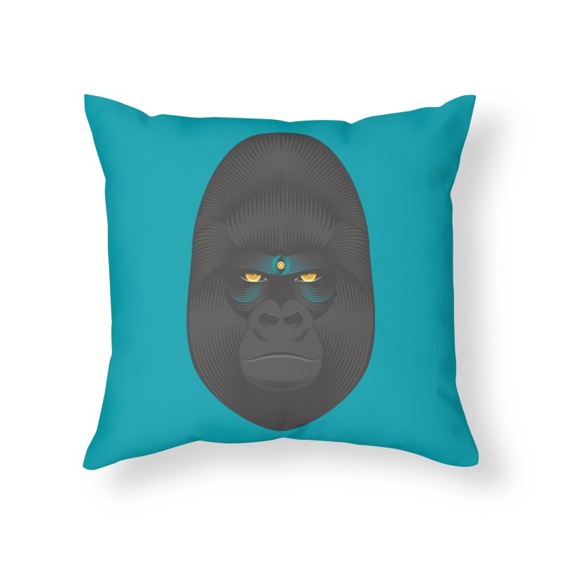 Gorilla soul - light colors clothes Home Throw Pillow by PAgata's Artist Shop