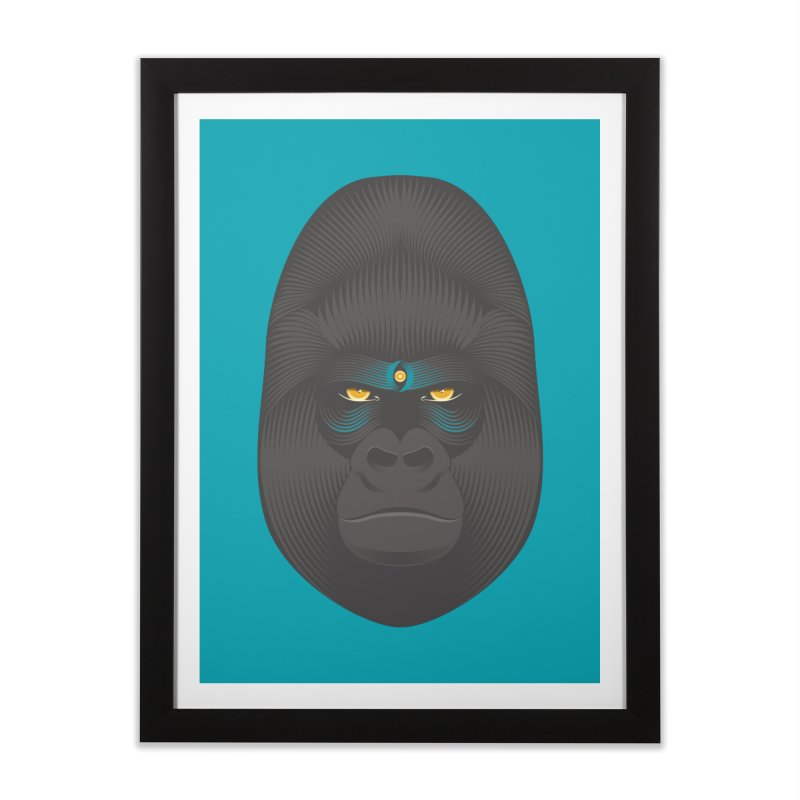 Gorilla soul - light colors clothes Home Framed Fine Art Print by PAgata's Artist Shop