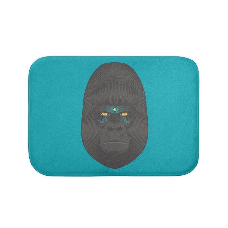 Gorilla soul - light colors clothes Home Bath Mat by PAgata's Artist Shop