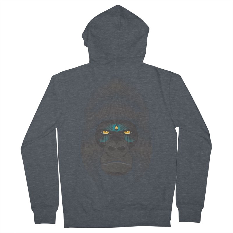 Gorilla soul - dark colours clothes Women's Zip-Up Hoody by PAgata's Artist Shop