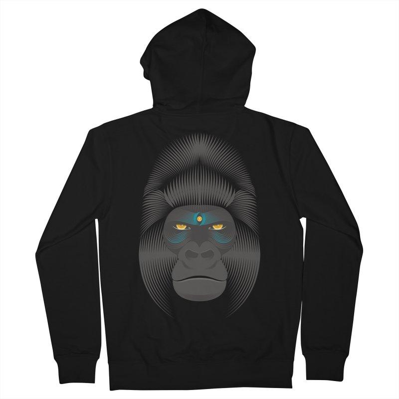 Gorilla soul - dark colours clothes Men's Zip-Up Hoody by PAgata's Artist Shop