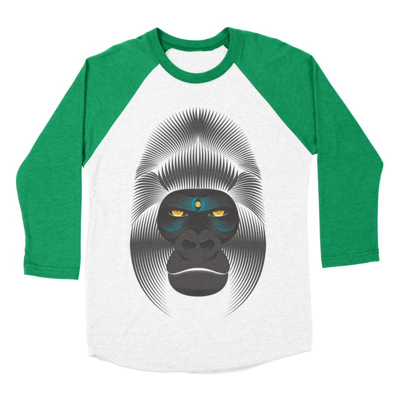 Gorilla soul - dark colours clothes Men's Baseball Triblend T-Shirt by PAgata's Artist Shop