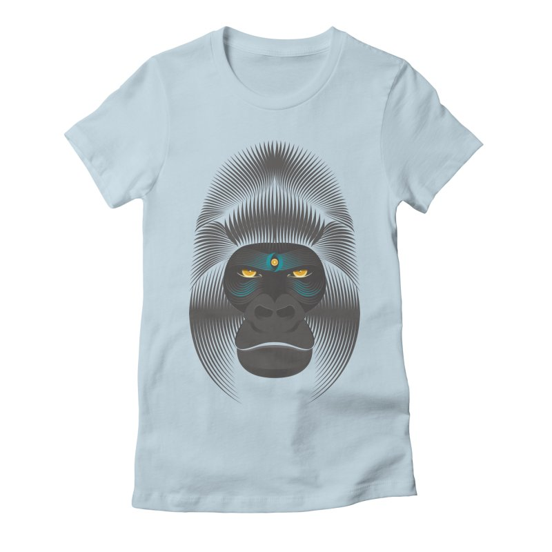 Gorilla soul - dark colours clothes Women's Fitted T-Shirt by PAgata's Artist Shop