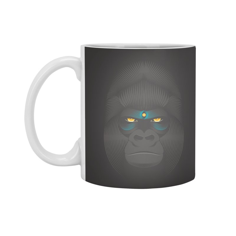 Gorilla soul - dark colours clothes Accessories Mug by PAgata's Artist Shop